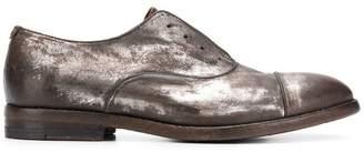 Pantanetti laceless metallic Oxford shoes