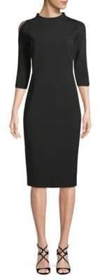 Lafayette 148 New York Mockneck Cold-Shoulder Dress