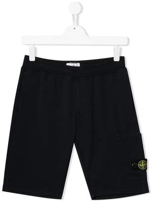 Stone Island Junior TEEN cargo shorts