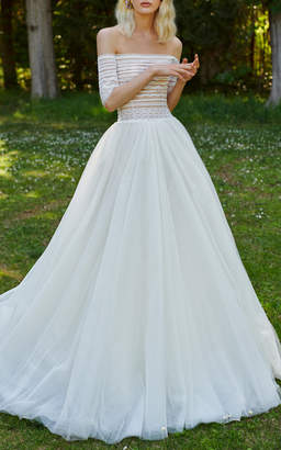 Costarellos Bridal Off-The-Shoulder Gown