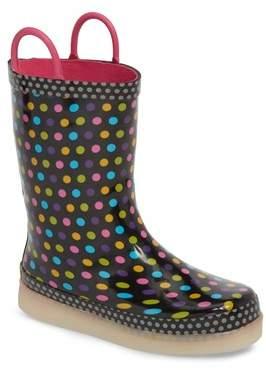 Western Chief Digital Diva Dot LED Rain Boot