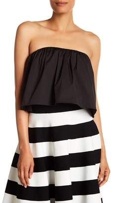 Milly Strapless Gathered Top