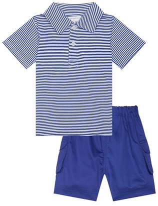 Rachel Riley Stripe Polo Shirt and Shorts Set