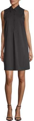 Saks Fifth Avenue BLACK Women's Mini Sleeveless Shirtdress