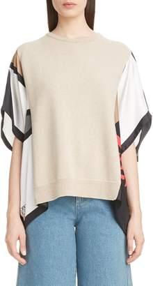 Loewe Scarf Sleeve Cashmere Blend Sweater