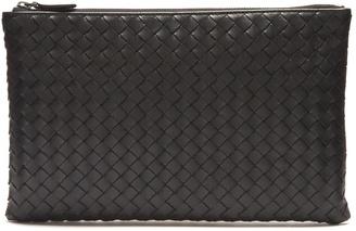 Intrecciato small leather pouch