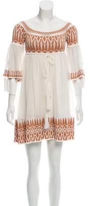Ronny Kobo Off-The-Shoulder Mini Dress