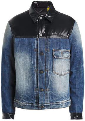 Moncler Genius 7 Fragment Hiroshi Fujiwara Denim Jacket with Patent Trims