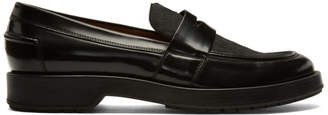 BOSS Black Calf-Hair Loafers