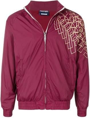 Paterson. geometric brand lettering jacket