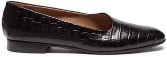 Alumnae 'Garconne' croc embossed leather flats