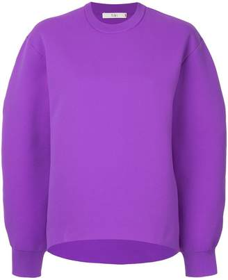 Tibi Tech Poly Sculpted Sleeve sweatshirt