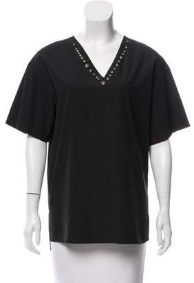 Tomas Maier Embellished Short Sleeve Top