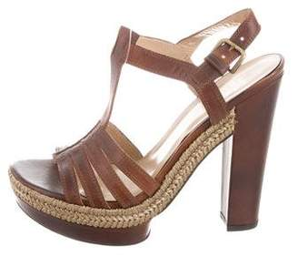 Stuart Weitzman Platform Leather Sandals