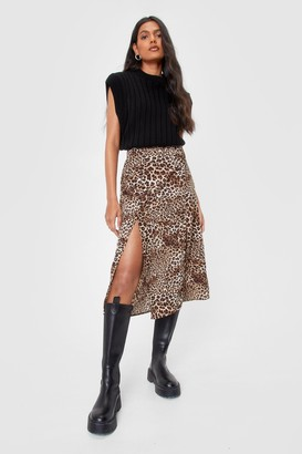 Nasty Gal Natural Attraction Leopard Skirt