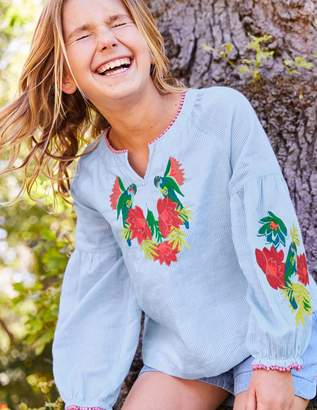 Boden Embroidered Boho Top