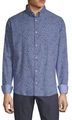 Paul & Shark Floral-Print Button-Down Shirt