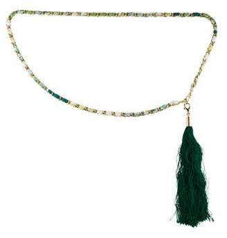 Emilio Pucci Chain-Link Tassel Belt