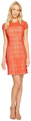 Jessica Simpson Short Sleeve Lace Dress Women's Dress