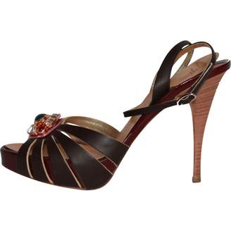 Giuseppe Zanotti Brown Leather Sandals