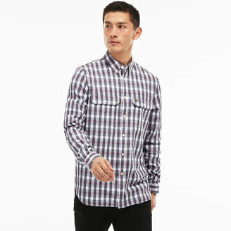 Lacoste Men's Regular Fit Oxford Cotton Check Shirt With Pockets