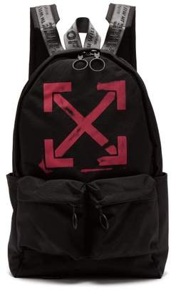 Off-White Off White Arrows Print Backpack - Mens - Black Pink