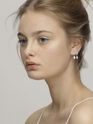 FEDERICA TOSI Mini Hand Charm Hoop Earrings