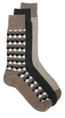 Cole Haan Diamond Men's Crew Socks - 3 Pack
