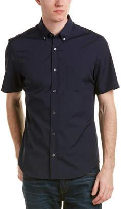 Burberry Short-Sleeved Stretch Cotton Poplin Shirt