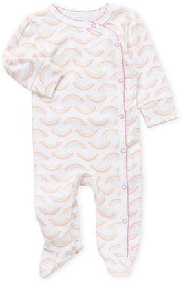 Vitamins Baby Newborn Girls) Rainbow Print Footie