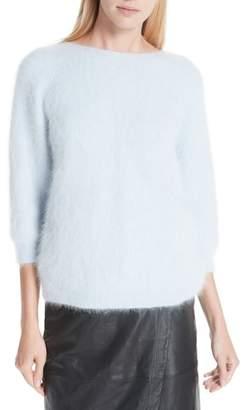 BA&SH Barmy Twist Back Angora Blend Sweater