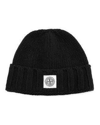 Stone Island Men's Wool Beanie Hat