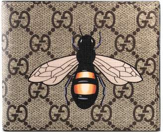 Bee print GG Supreme wallet $360 thestylecure.com