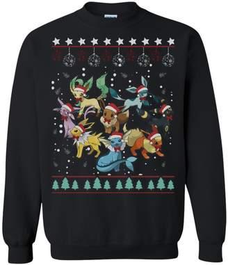 Pokemon Funny tshirt Eeveelutions Ugly Christmas Sweater Perfect Christmas Gifts