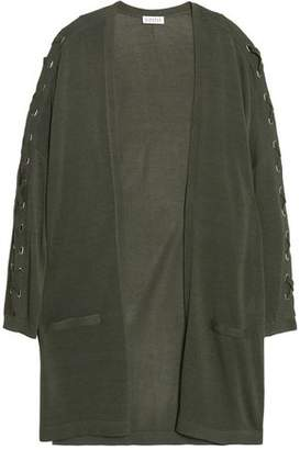 Claudie Pierlot Lace-Up Knitted Cardigan