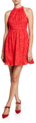 Ted Baker Embroidered Halter Skater Dress