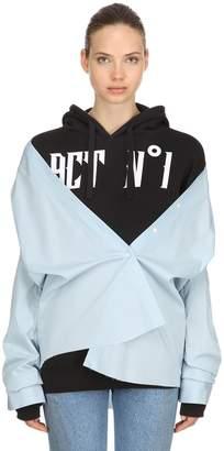 Oversize Logo Sweatshirt Hoodie W/ Shirt
