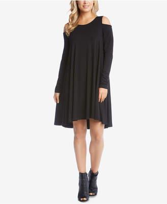 Karen Kane Cold-Shoulder Trapeze Dress