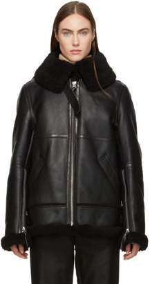 Acne Studios Back Shearling Aviator Jacket