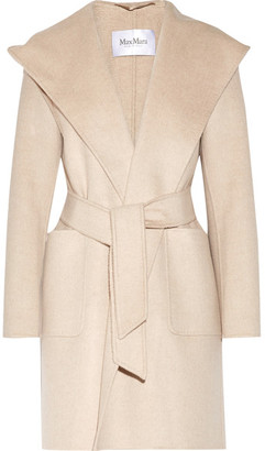 Max Mara - Hooded Cashmere Coat - Beige $5,090 thestylecure.com