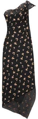 Roland Mouret Oakham One-Shoulder Asymmetric Embroidered Cloqué Dress