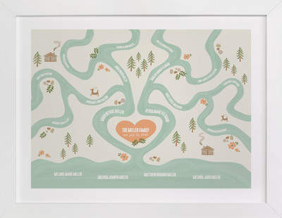 Heritage Stream Family Tree Custom Art Print