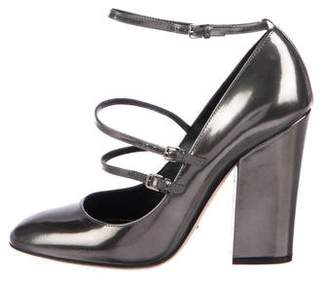 Sergio Rossi Patent Leather Rounded-Toe Pumps