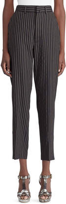 Ralph Lauren 50th Anniversary Grayden High-Waist Pinstripe Tapered-Leg Wool Pants