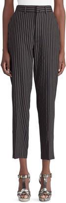 Ralph Lauren 50th Anniversary Grayden High-Waist Pinstripe Tapered-Leg Wool Pants