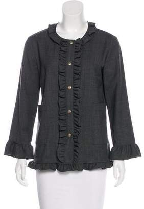 Marni Ruffle Knit Cardigan