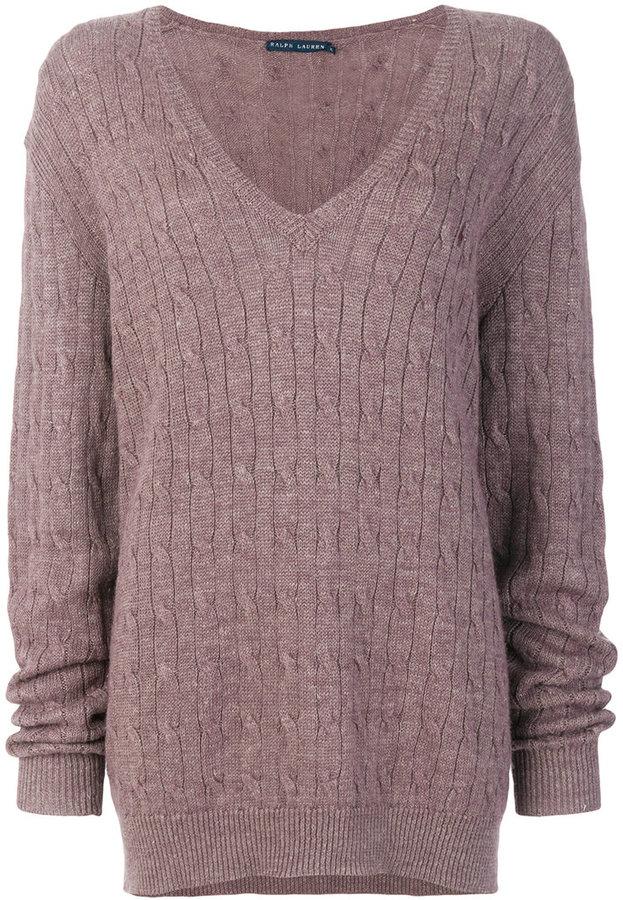 Ralph Lauren plunge neck sweater