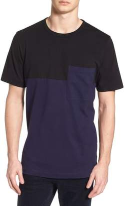 French Connection Half Stripe Crewneck T-Shirt