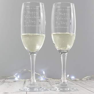 DAY Birger et Mikkelsen Sassy Bloom As seen on TV Personalised Valentines Flutes And Gift Box