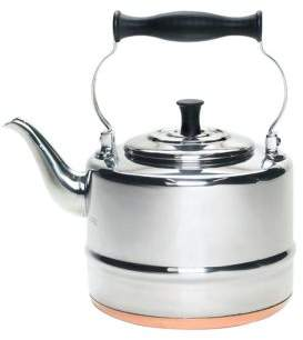 Bonjour Tea Stainless Steel and Copper-Base Gooseneck Tea Pot-2 quart
